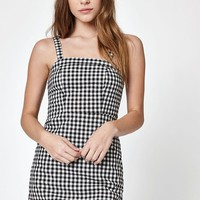 John Galt Gingham Thick Strap Dress at PacSun.com