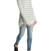 Striped Waffle Knit Top
