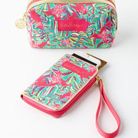 Lilly Pulitzer Navy Trunk Smartphone Wristlet & Cosmetic Case