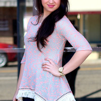 Southern Flare Tunic Top {Neon Coral}