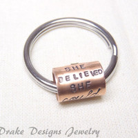 she believed she could keychain Graduation gift