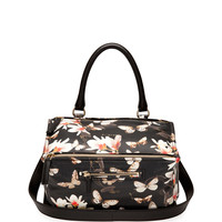 Pandora Medium Leather Shoulder Bag, Magnolia Print - Givenchy