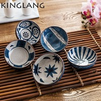 Japanese Style  Ceramic Small Sauce  Dish Flavor Kitchen Soy Sauce Vinegar Snack Dish Sushi Wasabi Condiment Dishes