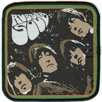 The Beatles Sew On Patch Rubber Soul Logo