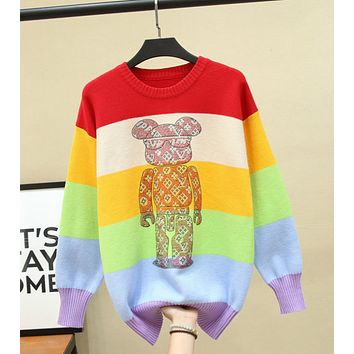 Louis Vuitton LV long sleeve teddy bear perm Pullover