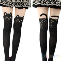 Cat Tail Knee High Pantyhose