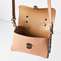 Vegan Patent Leather Studded Crossbody Bag | Urban Outfitters