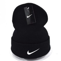 Nike Women Men Embroidery Beanies Winter Warm Knit Hat Cap-9