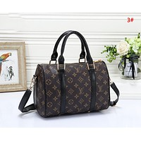 LV Louis Vuitton Fashion New Monogram Print Shopping Leisure Shoulder Bag Handbag Women 3#