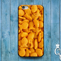 iPhone 4 4s 5 5s 5c 6 6s plus iPod Touch 4th 5th 6th Generation Cute Cracker Snack Food Cover Kid Family Fun Funny Phone Case Gold Cool Gift
