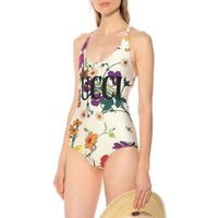 Gucci's Flower Printed Swimsuit