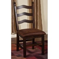 Sunny Designs 1440DC Santa Fe Ladder-back Chair In Dark Chocolate