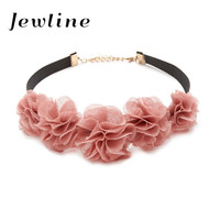 Flower Chokers Necklaces for Women Fashion Gorgeous Vintage Statement Choker Necklace Jewelry