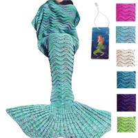 Mermaid Tail Knit Sleeping Pod Blanket