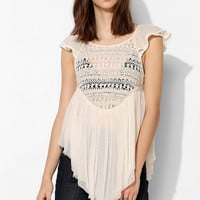 Pins And Needles Pin Dot Lace Babydoll Top - Urban Outfitters