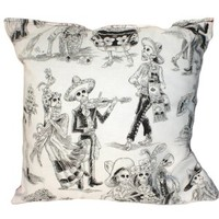 Day Of The Dead Throw Pillow II