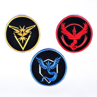 Pokemon Go ash ketchum pokeball Team Mystic Valor Instinct Iron cosplay costumes On Sew On Fine Quality Patch Gift New Badges