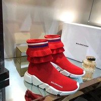 2019 New Balenciaga Speed Trainers Red Sneakers - Best Online Sale