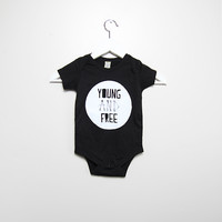 Young and Free Black Onesuit - Slyfox Threads