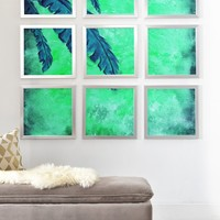 Madart Inc. Tropical Splash Aqua Framed Wall Mural | DENY Designs Home Accessories