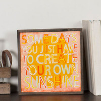 CREATE YOUR OWN SUNSHINE SMALL WALL ART