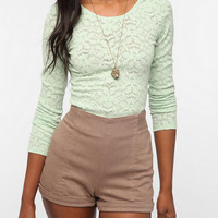 Kimchi Blue Scoop-Back Lace Top