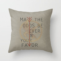 The Hunger Games Poster 02 Throw Pillow by Misery   Society6