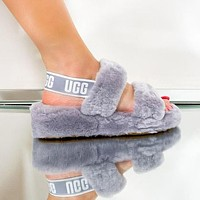 UGG hot new style, warm, non-slip, elastic behind the foot plush slippers, fashion ladies indoor and outdoor sandals