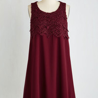 Mid-length Sleeveless Shift In the Mood for Lovely Dress by ModCloth