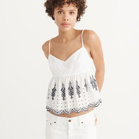 Womens Embroidered Cami   Womens Tops   Abercrombie.com