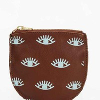 BAGGU Small Printed Leather Zip-Pouch-