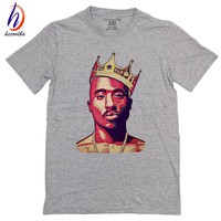 100% Cotton,Mens Hip Hop Raper 2PAC Print T-shirt Tupac Amaru Shakur Cotton Tee Shirt Homme Makaveli Top Tees,GT513