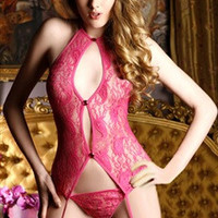 Reds Lace Teddies Full Torso Sexy Lingeries