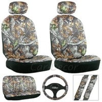 Camouflage Car Seat Cover Set Hunting Auto Accessory