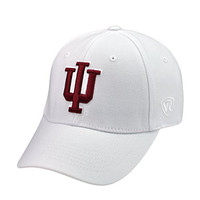 NCAA Top of the World -Big 10 Conference Premium Collection One Size One Fit Hat Cap-Indiana Hoosiers-White