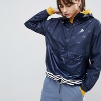 adidas Originals adicolor Windbreaker Jacket In Navy at asos.com