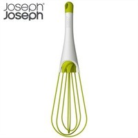 Joseph Joseph 2-in-1 Silicone 11.5-Inch Balloon and Flat Whisk, Twist, White and Green