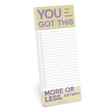 You Got This (More or Less) Make-a-List Pad