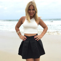 Flare Out Skirt In Black