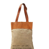 Canvas Sack Vintage Eco Inspired Strap Bag