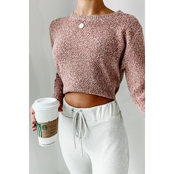 Reaching For You Knitted Sweater (Mauve)