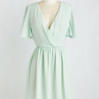 Pastel Mid-length Short Sleeves A-line A Dance with Romance Dress by ModCloth