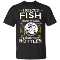 Fishing and Beer Novelty T Shirt