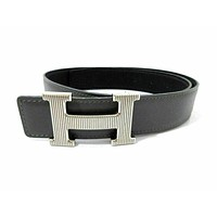 Auth HERMES H Buckle Constance Square D Reversible Belt Size 65 Good 55934