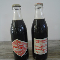 1976 Commemorative Coca Cola Bottles Full Unused Bicentennial Coke Bottles Grand Opening Pembroke Plant Miami FL