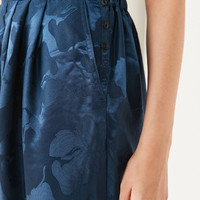Silence + Noise Irina Pleated Drop Crotch Floral Pant | Urban Outfitters