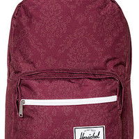 The Pop Quiz Backpack in Burgundy Damask