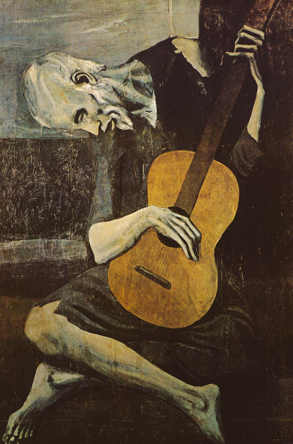Image of Pablo Picasso The Old Guitarist Art Poster 24x36