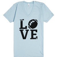 Football Love-Unisex Light Blue T-Shirt