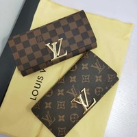 LV Tide brand envelope wallet women's long wallet flip wallet